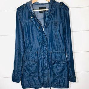 LOVE TREE Blue Utility Coat Jacket Women's LARGE